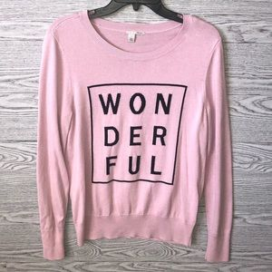 Halogen | Pink Wonderful Sweater (L)